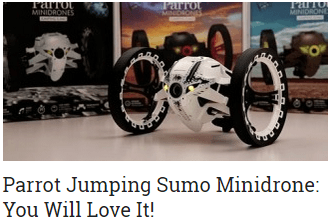 Parrot Jumping Sumo Minidrone You Will Love It
