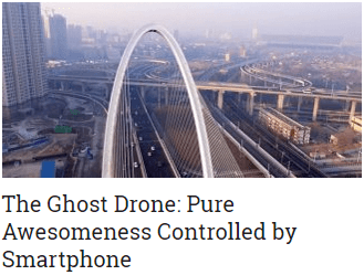 The Ghost Drone Pure Awesomeness Controlled by Smartphone