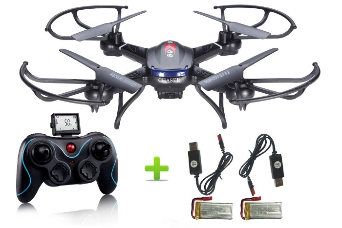 Holy Stone F181 RC Quadcopter Drone with HD Camera RTF 4 Channel 2.4GHz 6-Gyro Headless System Black (Upgraded with Altitude Hold Function)