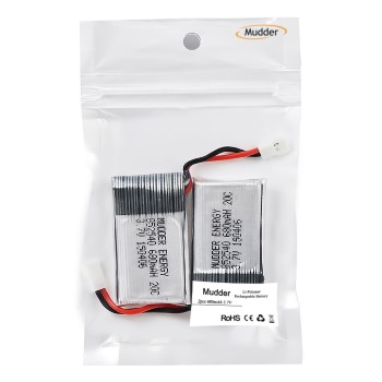 Mudder Upgraded 680mAh 3.7V Lipo Rechargeable Battery